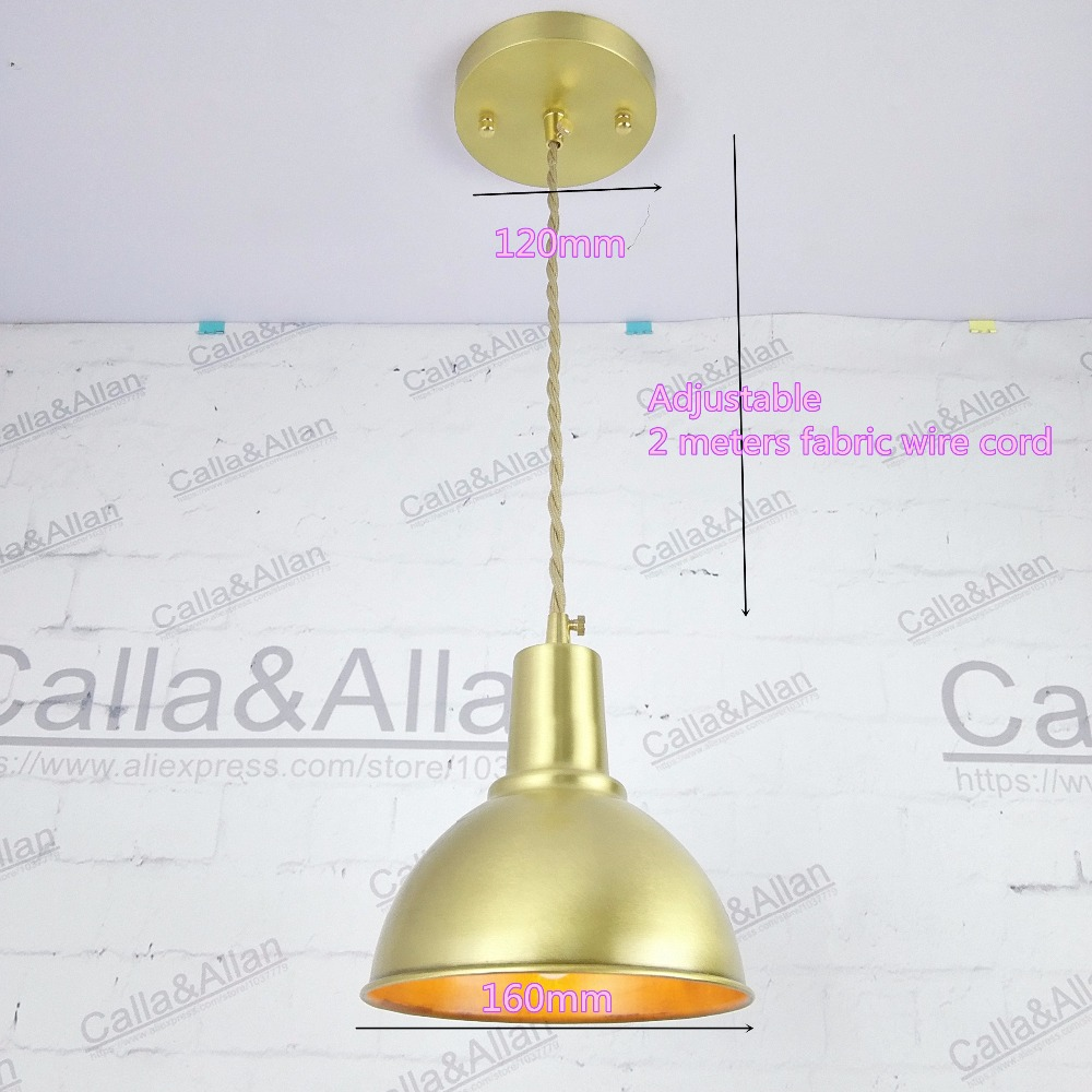 Half round brass ball copper l&shade fabric wire pendant l& fixture brass lighting LED modern style Restaurant Bedroom light-in Pendant Lights from ...  sc 1 st  AliExpress.com & Half round brass ball copper lampshade fabric wire pendant lamp ...