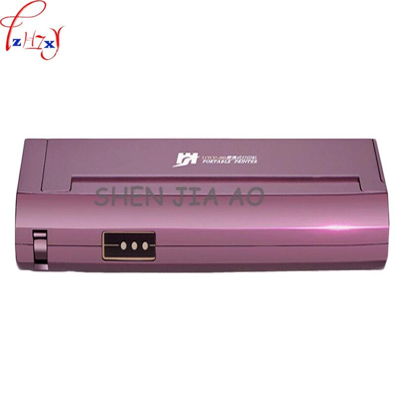 Mini A4 Papier Imprimante de Bureau À Domicile De Voiture Mobile Bluetooth Portable Noir et Blanc Portable Imprimante Thermique 1 pc