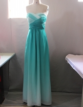 Fashionable Ombre Dress Gradual Changing Color Dark Green Long Prom Dresses Formal Gowns Bridesmaid Dresses