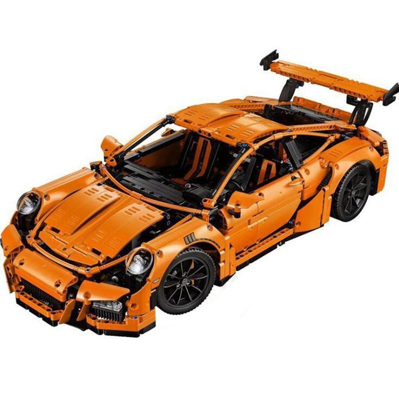 New 20001 technic series Race Car Model Building Kits Blocks Bricks Compatible 42056 Boys Gift Educational toys for children