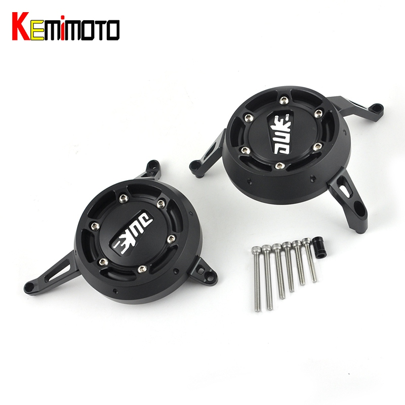 KEMiMOTO For KTM 390 200 2012 2013 2014 2015 DUKE RC390 RC200 CNC Engine Cover Slider Engine Stator Case Saver Frame Protection for ktm logo 125 200 390 690 duke rc 200 390 motorcycle accessories cnc engine oil filter cover cap