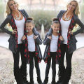 Family Outfits Clothing Mother Daughter Cardigan Sweater Outwear Jacket Fasion Autumn Spring Top Clothes