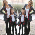 Trajes Ropa de la familia de Madre E Hija Cardigan Suéter Outwear Chaqueta Fasion Otoño Primavera Ropa de la Tapa
