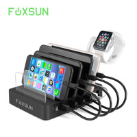 USB Charging Station 6 Port Multiple Device Detachable Charging Dock & Organizer Charging Stand for iPhone /Cell phone/Android