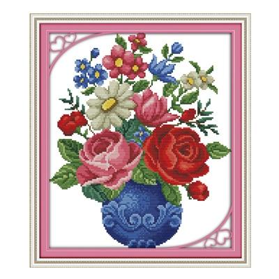Joy Sunday Crossstitch Blossom Bunga Dalam Keranjang Dmc14ct11ct Cottonfabric Toko Hotel Rumah Lukisan Livingroom Pabrik Grosir Joy Sunday Flower Flowerflower Blossom Aliexpress