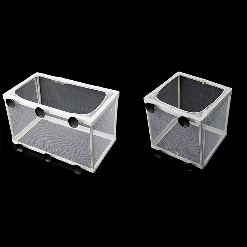 Aquarium Fish Tank Double Breed Incubator Breeder Rearing Trap Box Hatchery S/L Z07 Drop ...