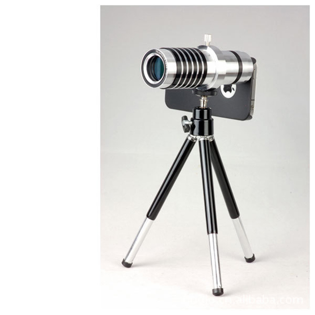 14X Metal De La Astilla de alta Calidad Telescopio Len Zoom de La Cámara Del Teléfono Móvil len para el iphone 4s del teléfono para samsung galaxy 7300 9500 7100
