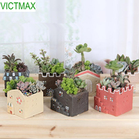 VICTMAX 1 pz Zakka Casa A Forma di Succulente Vaso di Fiori Da Giardino Fioriera Vaso Desktop Decorazione di Vasi di Fiori