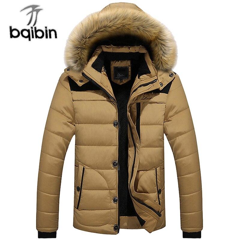 New Winter Men's Coats Male   Parkas   Casual Thick Casual Outwear Fleece Jackets Warm Overcoats Mens Plus Size 5XL