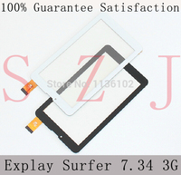 New 7 Explay Surfer 7.34 3G Tablet touch screen panel Digitizer Glass Sensor replacement Black/White 10Pcs/lot