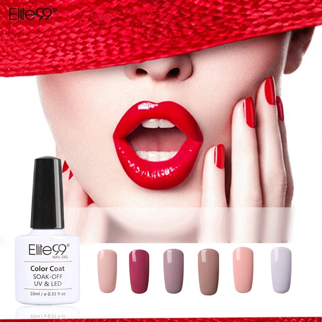 Elite99 10 ml gel polish 72 colori gel uv nail polish gel inchiostro Gel Del Chiodo Gelpolish Vernice Lacca Gel Top Coat Senza Appiccicoso strato