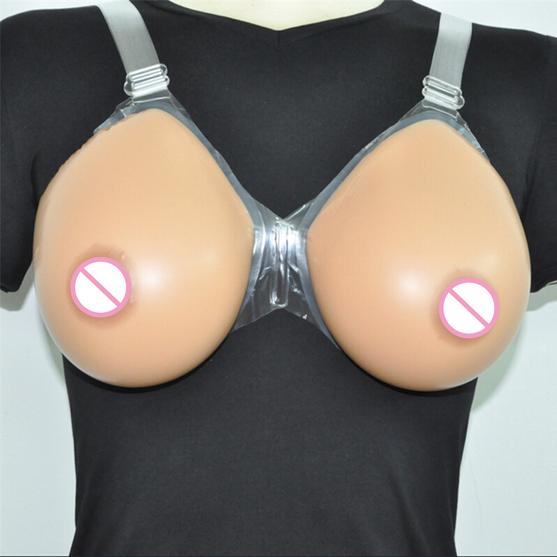free shipping artificial silicone breast forms for cross dressing deep cleavage fake bra male transgender 3600g pair beige color 3600g Drag Queen Silicone Breast Forms Transgender Crossdresser Fake Boobs Shemale Artificial Breast False Breasts Dark Beige