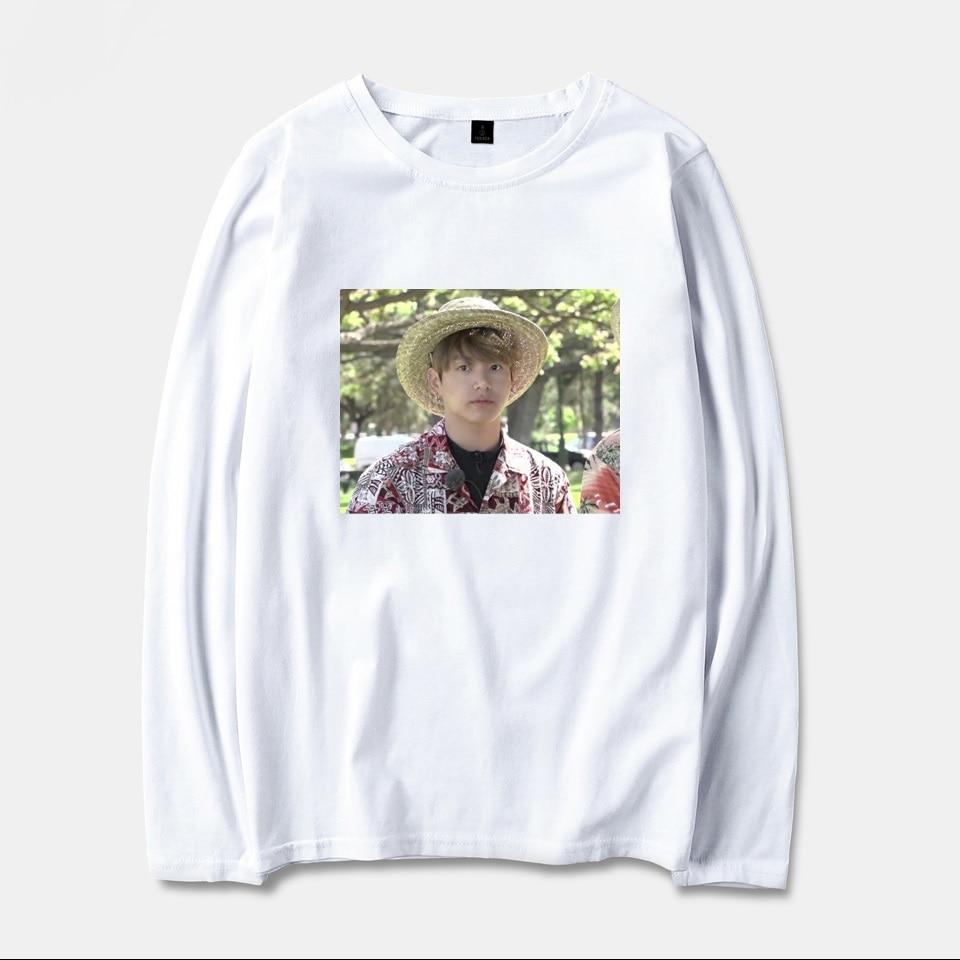 BTS Kpop Jungkook Hawaii Spring Long Sleeve T-Shirts Men/