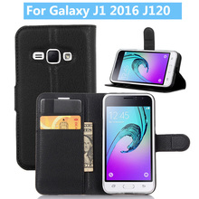 For Samsung Galaxy J1 2016 J120 Flip Leather Phone Case for Book Style Wallet Stand