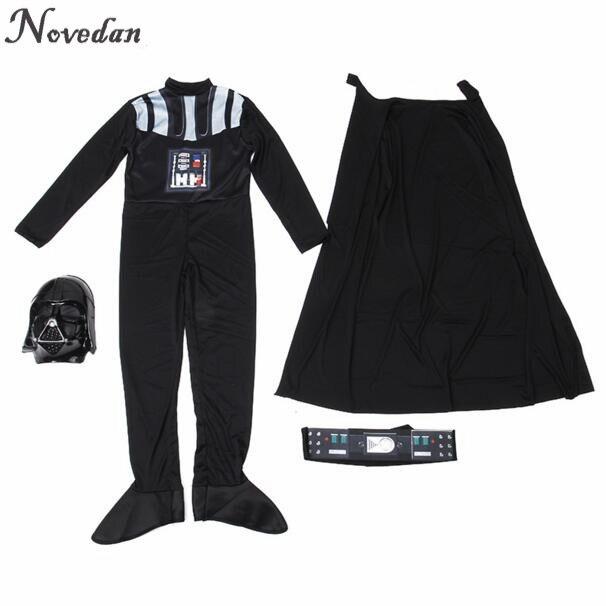 Image 4 - Halloween Costume For Kids Men Darth Vader (Anakin Skywalker) Children Cosplay Party Costume Clothing With Helmet Mask    -