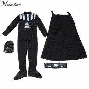 Image 4 - Halloween Kostuum Voor Kinderen Mannen Darth Vader (Anakin Skywalker) Kinderen Cosplay Party Kostuum Kleding Met Helm Masker