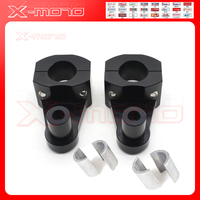 Black Silver Universal Anodized 2 Inch Pivoting Motorcycle Handlebar Riser For 7 8 22mm 28mm Bars