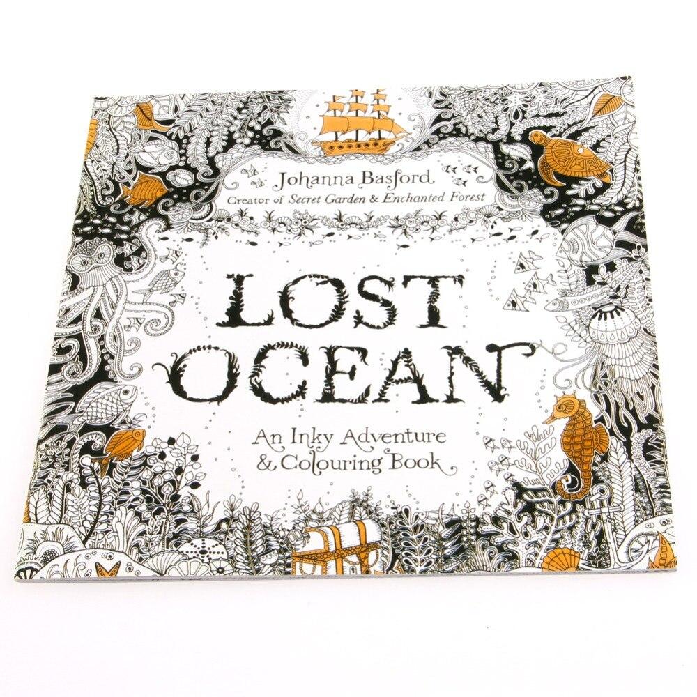 2017 Verloren Ozean Zeichnung Färbung Buch Graffiti Bücher Erwachsene Malerei Kinder