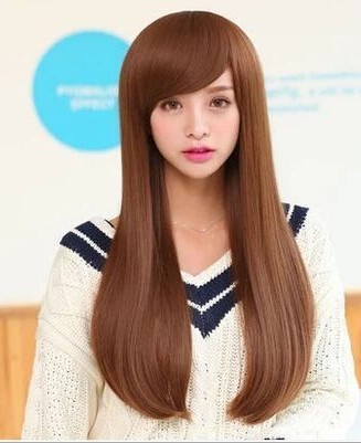 Wholesale long straight hair female growth pear head shave hair heat wholesale long straight hair female growth pear head shave hair heat resistant ladys wigs solutioingenieria Images