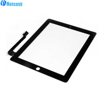 Netcosy Touch Screen Digitizer Front Touch Panel Glass for iPad 2/3/4 TouchScreen Replacement Spare Part TP + Repair Tools+Glue