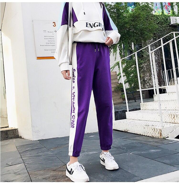 FINEWORDS Striped Jogger Harem Pants Long Leisure Pants Women Autumn Female Clothes Sweatpants Sportswear Trousers Plus Size 5