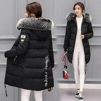 BRZFMRVL Ml XL 2XL 3XL vrouwen Winter Bovenkleding Bont kap warme winterjas Fashional Custom Zwarte Lange Mouw Winter lady Jas
