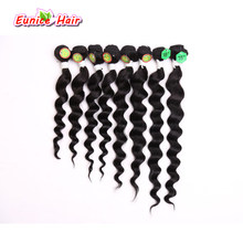 8pcs/lot Unprocessed hair extension brazilian natural hair bundles jerry curly short 8inch 8-14inch loose wave hair deep cury(China)