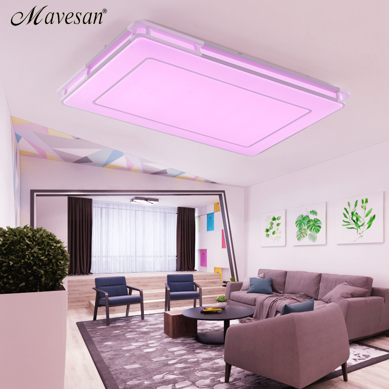 NEW Modern RGB Ceiling Light RGB+Cool white+Warm white Smart LED ...