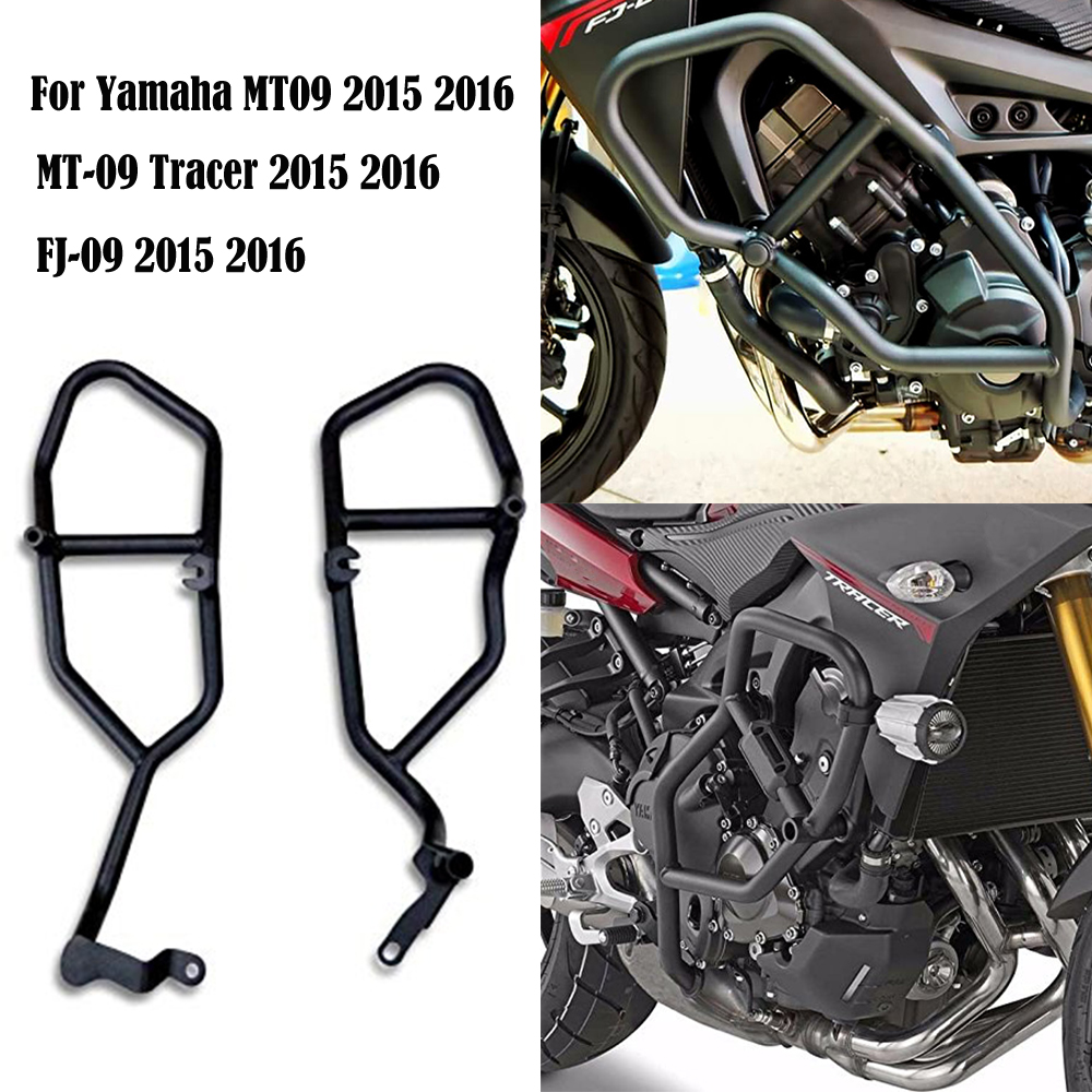 KEMiMOTO Crash Bar Protector For YAMAHA MT09 MT 09 MT 09 Tracer FJ09 FJ 09 2015