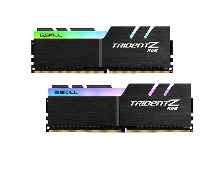 (G. SKILL) Trident Z RGB série DDR4 3200 C14 ordinateur de bureau de mémoire RGB barre lumineuse (F4-3200C14D-16GTZR)