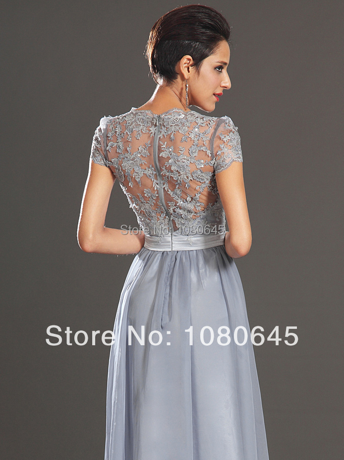Silver Lace Prom Dress – fashion dresses ed178b278bd4