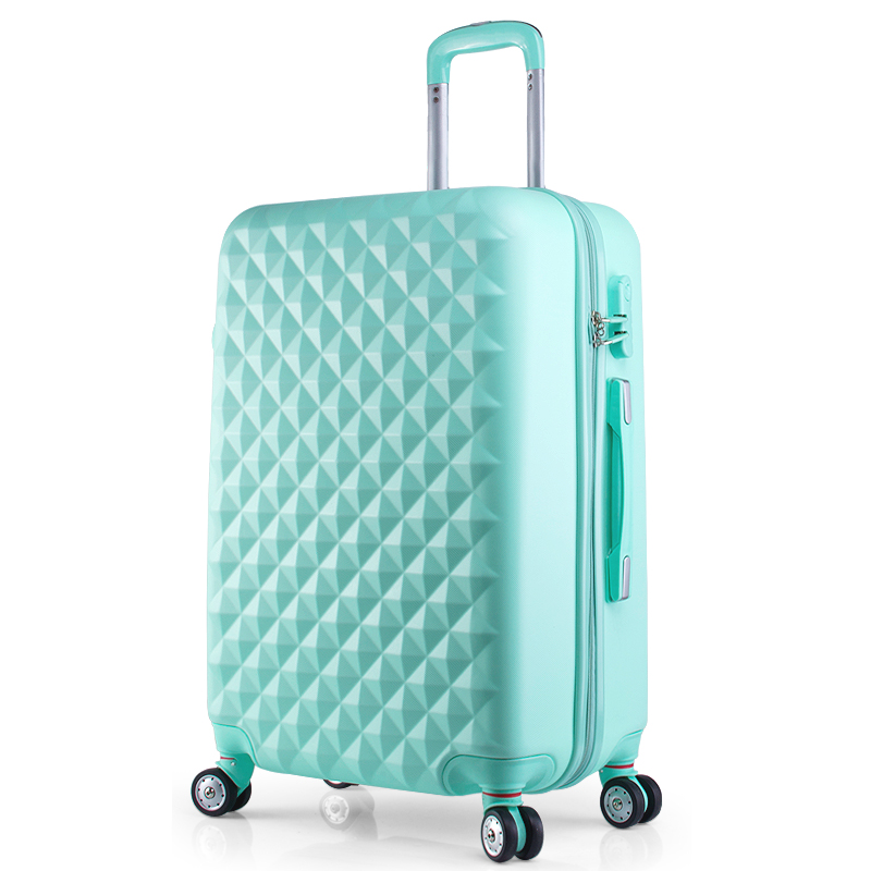 Hot 20 22 24 28 inches ABS girl students spinner trolley case child Travel business luggage Combination lock suitcase Boarding