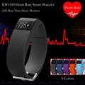 Id100 heart rate monitor inteligente pulsera deporte pulsera smartband rastreador de ejercicios para iphone ios android teléfono con pk fitbits