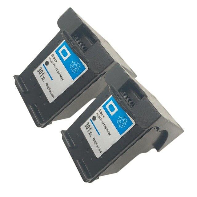 2pcs Non-OEM Ink Cartridge for HP 301 for HP 301 xl Deskjet 1050 2050 2050s 3050 for Envy 4500 4502 4504 5530 5532 5539 sta W