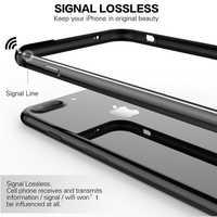 Silicone souple En Aluminium Pare-chocs étui pour iphone XS Max XR XS De Luxe En Métal Dur Revêtements Latéraux En Caoutchouc antichoc Pare-chocs