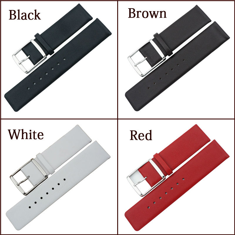 Image 2 - MAIKES New 16mm 18mm 20mm 22mm Genuine Leather Watch Band High Quality Thin White Watch Strap Case For CK Calvin Kleinwatch strap 22mmwatch strap displaywatch bentley -