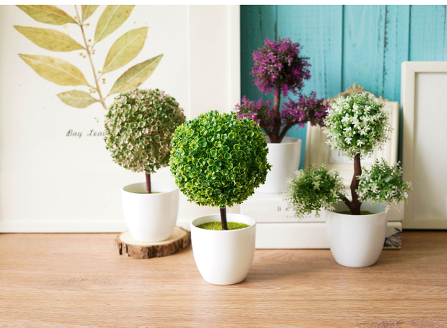Artificial Potted Plants With Flowerpot For Home Wedding