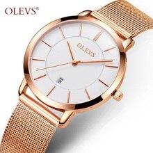 Women's Watch Gold OLEVS Fashion Ladies Watches Quartz Auto Date Wristwatch For Girl Stainless Steel Dress Female Wrist watch