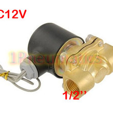 Electric Solenoid-Valve Water-Air-Fuels Brass DC 12V Gas-Normal SMALL Closed 1/2-