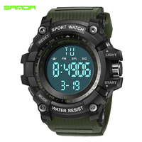 SANDA Military Sport Watch Men Top Brand Luxury Electronic LED Digital Wrist Watches For Men Male