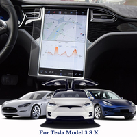 Car Styling Car Dashboard Paint Protective TPU Film For Tesla Model 3 S X GPS Screen Film Car Protective Internal Accessories