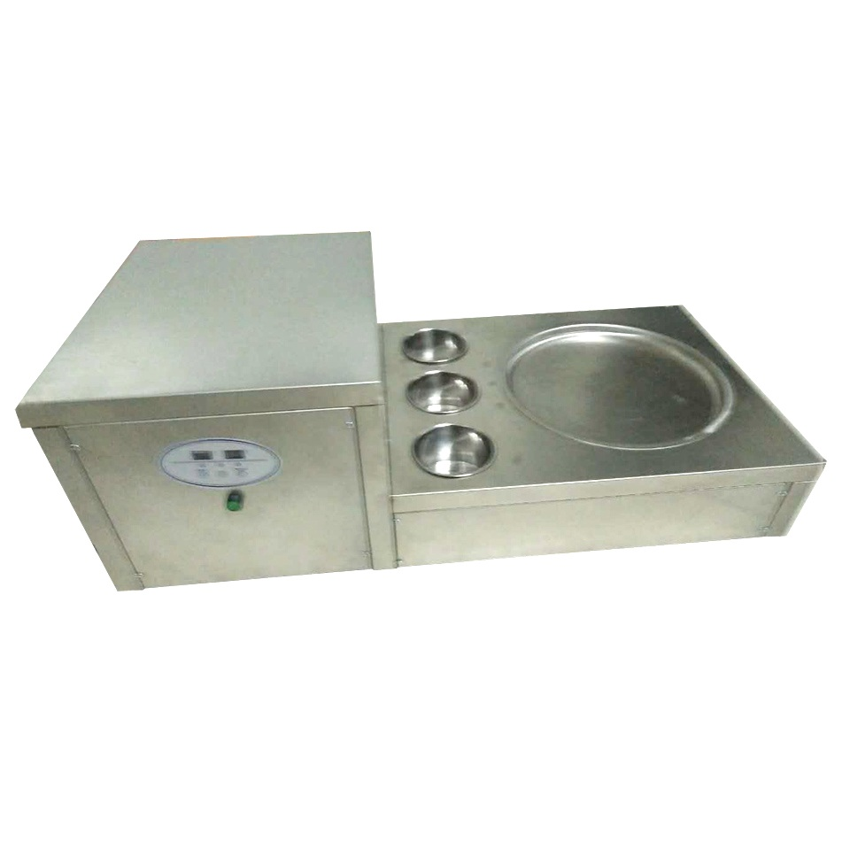 Thai Rolled Ice Cream Machine table top one round pan fried ice cream machine for sale