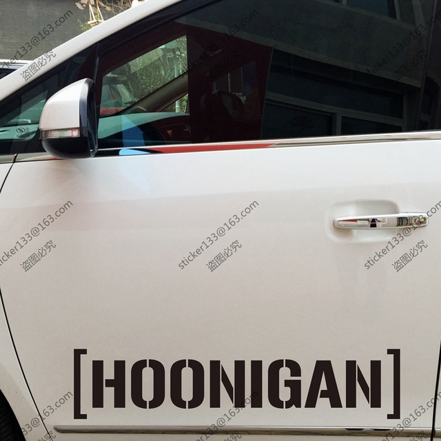 Hoonigan sticker decal jdm funny drift low turbo car trunk window vinyl die cut choose