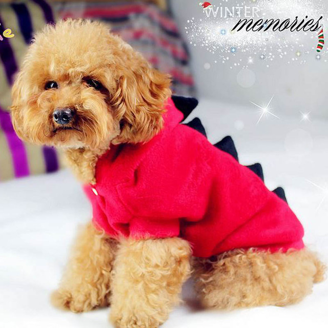 Novelty Pet Dog Hoodie For Small Dogs Clothes Winter Dinosaur Puppy Coat Clothing For Chihuahua Cat Costume Size XS S M L XL 129