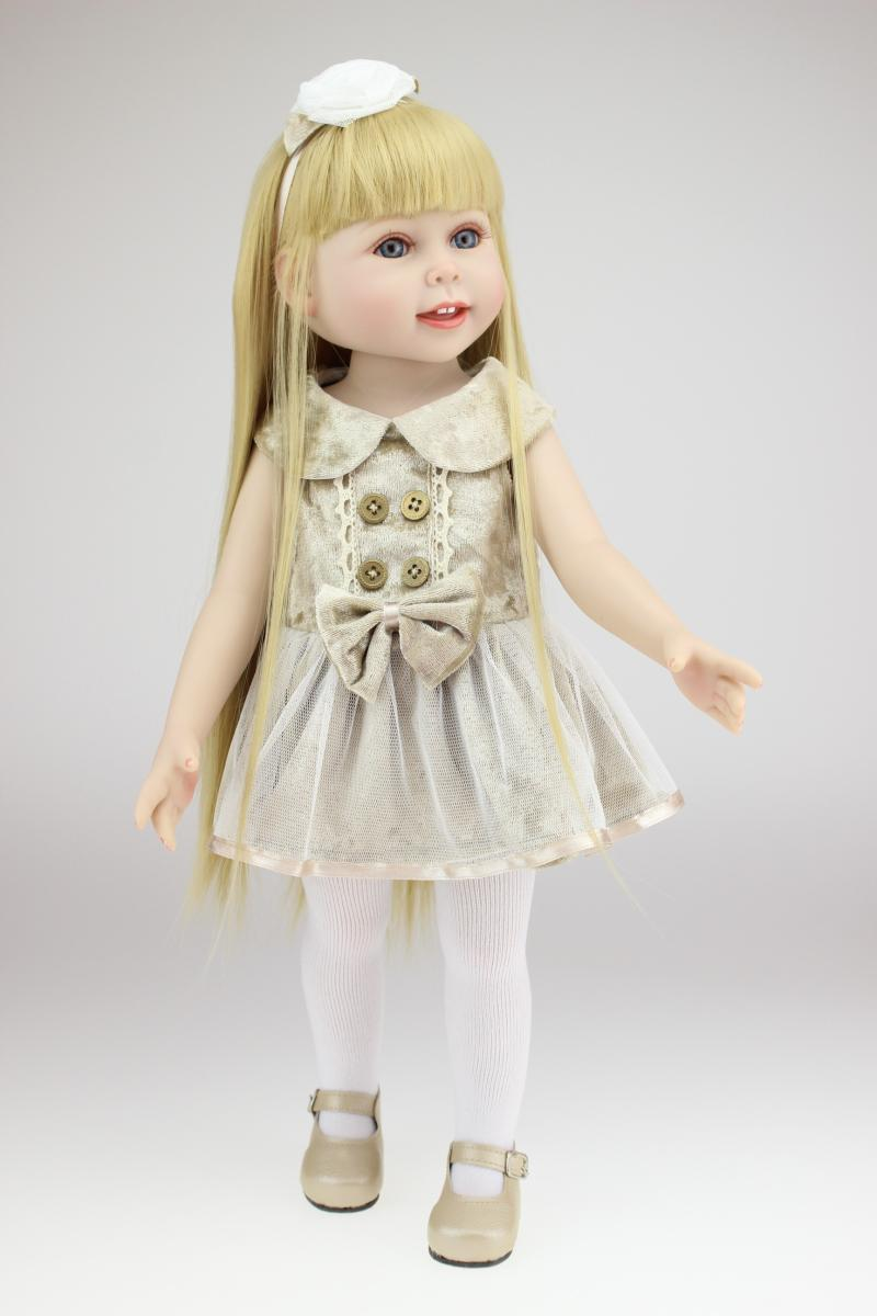 18inch Amerian Girl Dolls Reborn doll princess plastic toys for girls 10 years old 45cm baby alive doll for girl toys best gifts npk collection handmade bjd doll 18 inch girl doll include clothes shoes plastic baby princess doll plaything toy for children