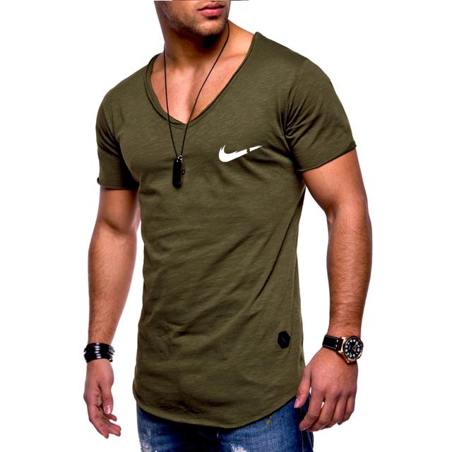 Newest 2019 Summer Men T-shirt Fashion Brand Logo Print Cotton T shirt Men Trend Casual Short sleeve Tshirt Tops tee
