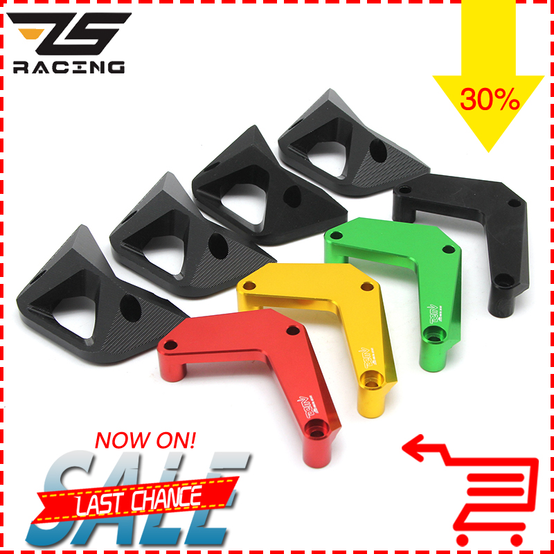 ZS Racing 2017 New Motorcycle Parts CNC Aluminum Alloy Engine Cover Protection Pad Kit For Kawasaki Z1000 2010-2016 bjmoto cnc aluminum motorbike accessaries motorcycle engine guard cover pad for kawasaki z1000 r 2010 2011 2012