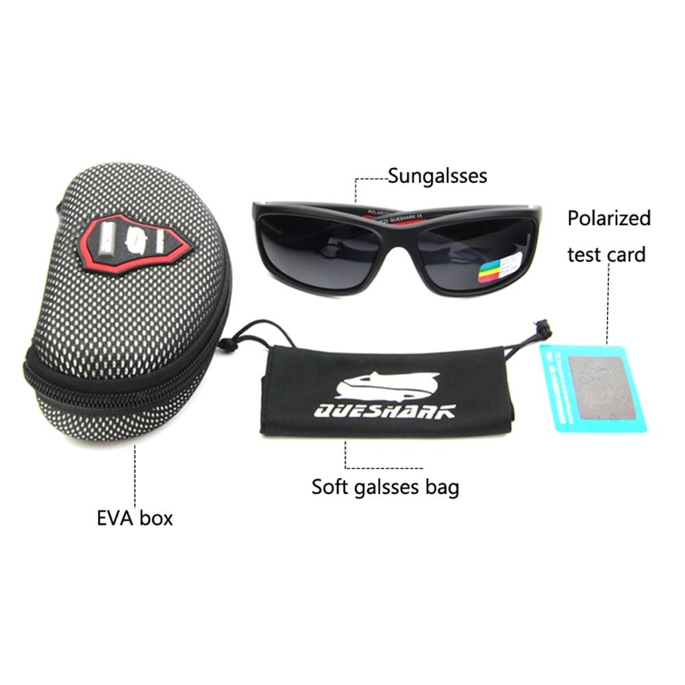QUESHARK Для мужчин поляризованных Рыбная ловля солнцезащитные очки Кемпинг Пеший Туризм очки Uv400 защиты велосипедах очки Спорт Рыбалка очки