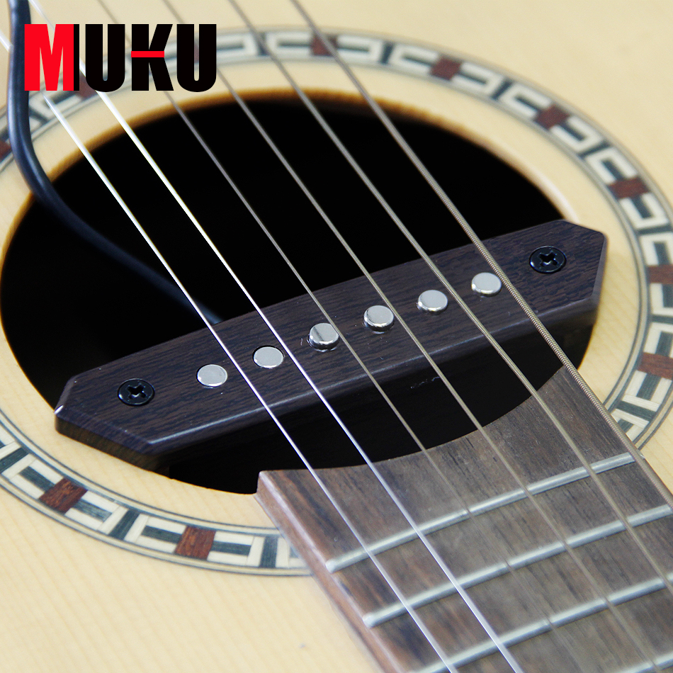 MUKU A-810 magnetisch soundhole-element gebalanceerd en warmtetoon Humbucker Sound-hole pick-up plectrumhouder