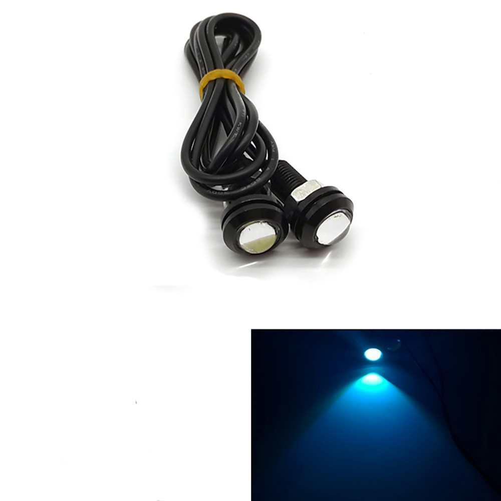 1 pcs Novo 3 W 18mm cor shell preto Daytime Running Luzes LED de Alta - Faróis do carro - Foto 2